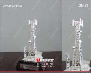 souvenir miniatur tower bts telkomcel